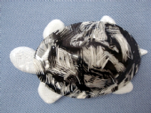 Lea Stein - Black and White Turtle or Tortoise Brooch by Lea Stein of Paris  (Sold)